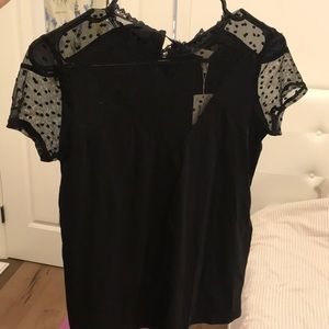 Maje black lace top